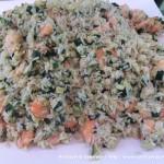 Riso pilaf con gamberoni e zucchine