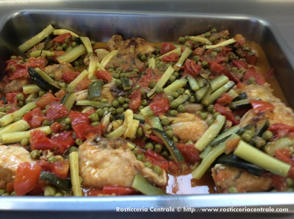 Pollo alle verdure