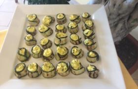 Rotolino di zucchine con ricotta e zafferano
