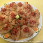 Fagottino con pomodoro fresco, mozzarella e basilico