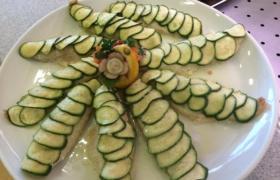 Filetto di scorfano in crosta di zucchine