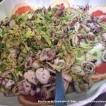 Insalata con piovra, calamari e radicchio di Castelfranco